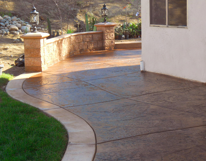 Acid Stained Concrete Makes Beautiful, Low Cost Patios And Terraces.  Concrete Stains Come In Almost Any Color, And The Staining Process Imparts  A Glowing ...